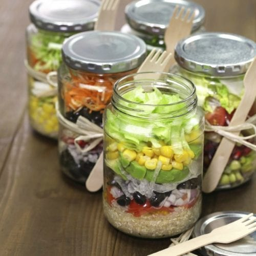 image for Salad in a Jar Recipes