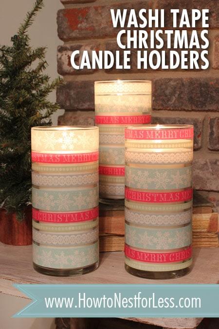 Weihnachten Washi Tape Kerzenhalter