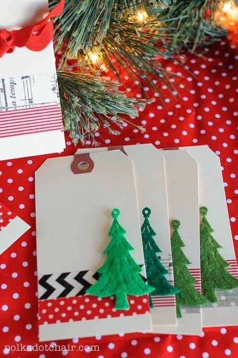 Washi Tape Weihnachtsanhänger