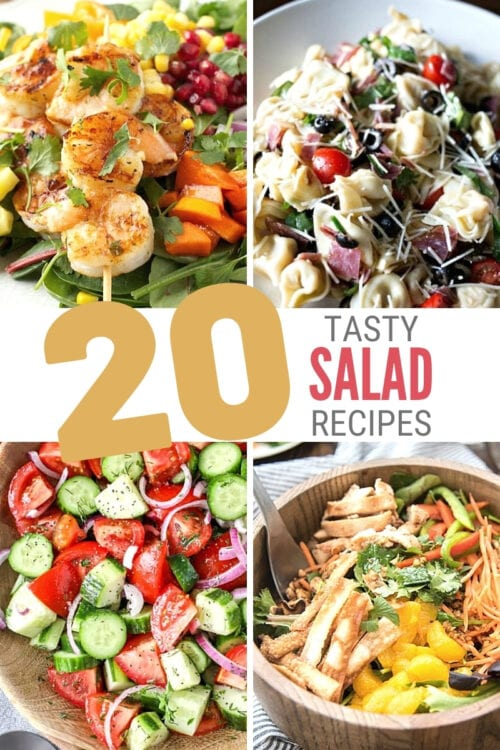 title image for 20 Easy and Tasty Salad Recipes for Dinner