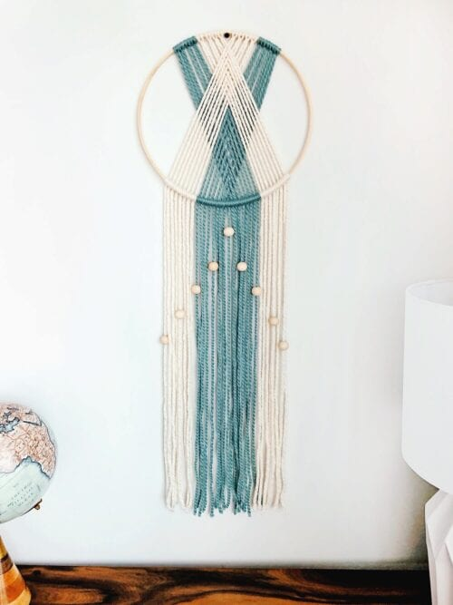 Reversible Modern Wall Hanging with a Twist