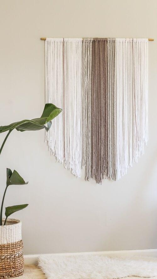 Stupid Easy Yarn Wall Hanging