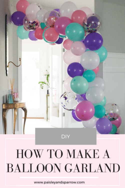 A Balloon Garland the Easy Way