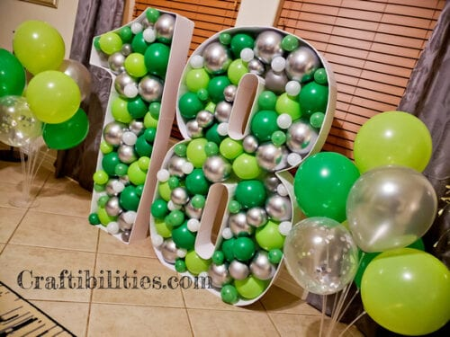 Giant Balloon Filled Numbers
