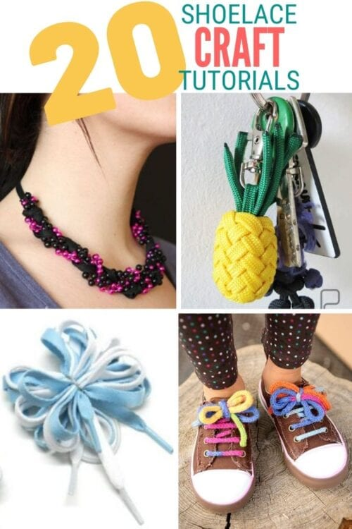 title image for 20 Fun Shoelace Crafts You Can Do