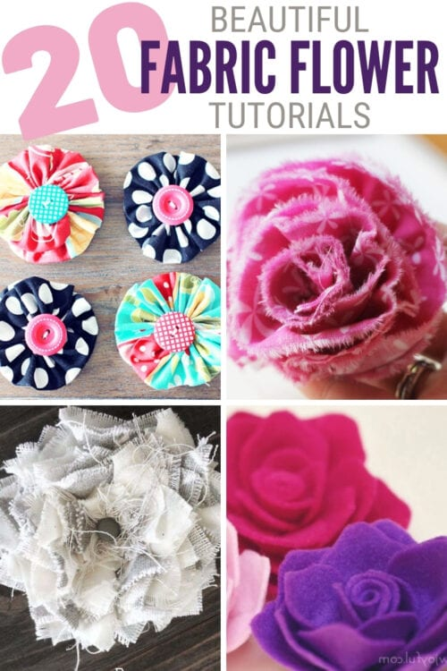 title image for 20 Beautiful Fabric Flower Tutorials