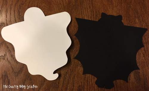 ghost and bat candy bar covers