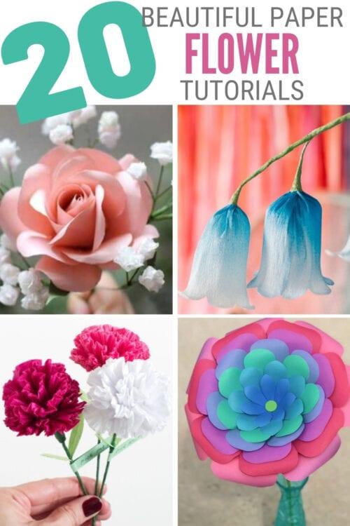 paper flower tutorials 4