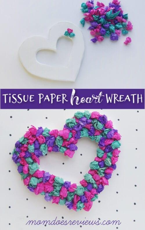 Seidenpapier Herzkranz Handwerk