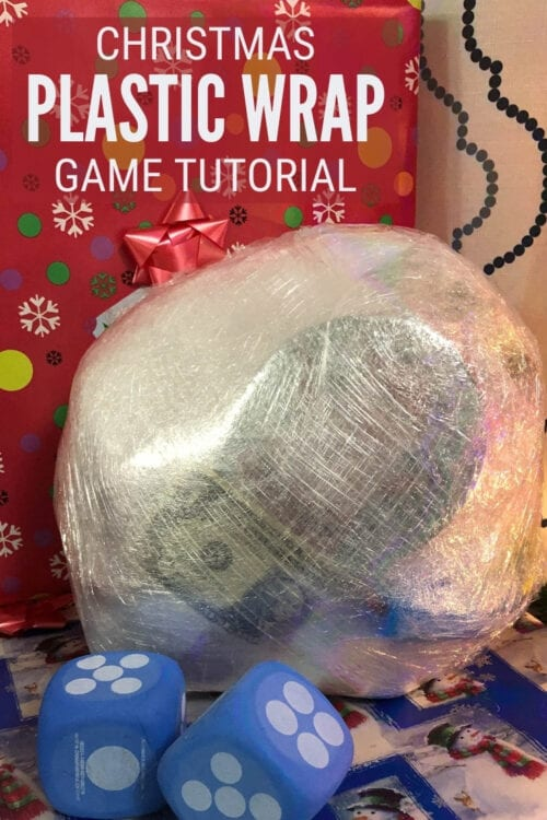 title image for How to Make and Play the Christmas Plastic Wrap Game