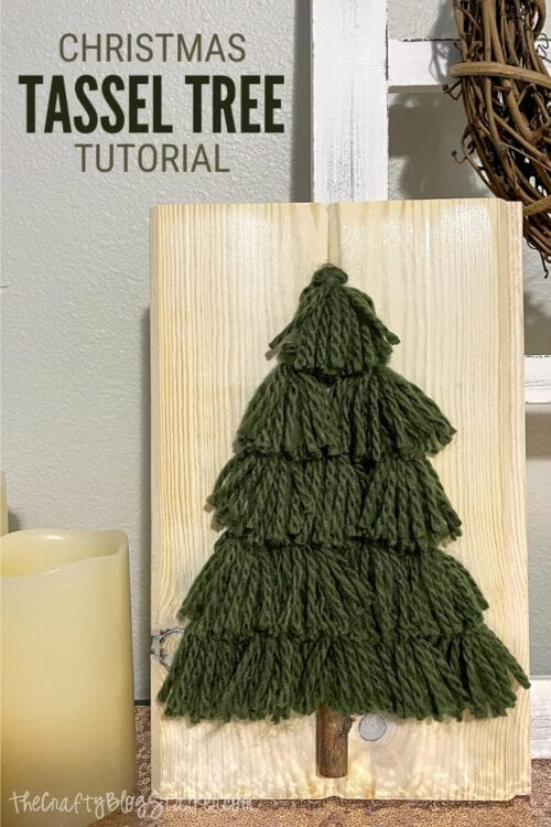 title image for How to Make a Yarn Tassel Tree for Christmas Decor