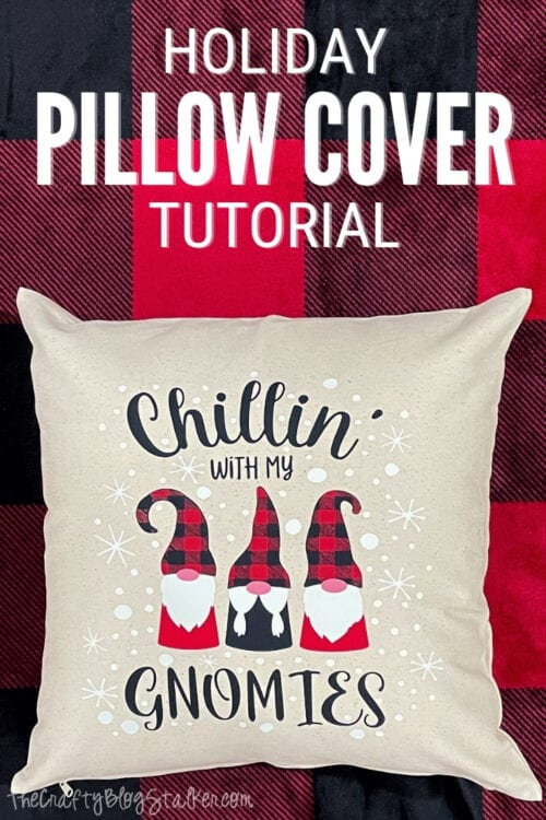 title image for How To Make a Holiday Pillow Cover with Heat Transfer Vinyl
