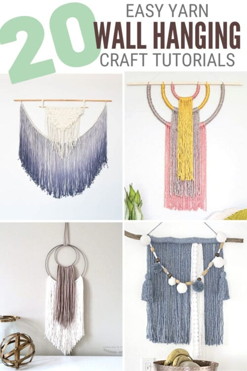 title image for 20 Easy DIY Yarn Wall Hanging Crafts
