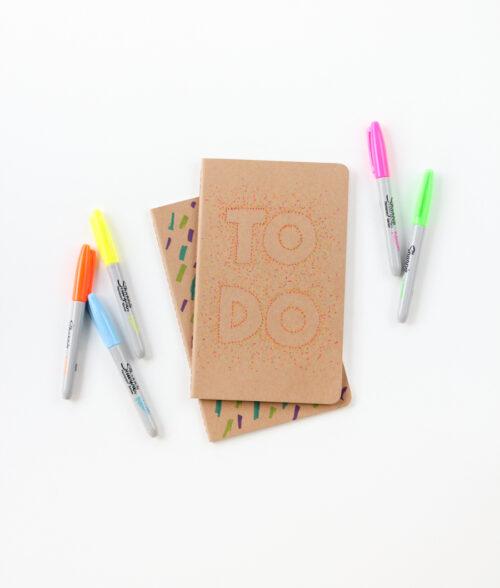 DIY Pointillism Notebook