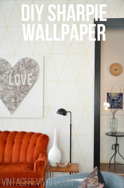 DIY Sharpie Wallpaper Tutorial