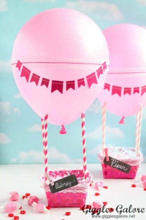 Hot Air Balloon Valentines Day Box