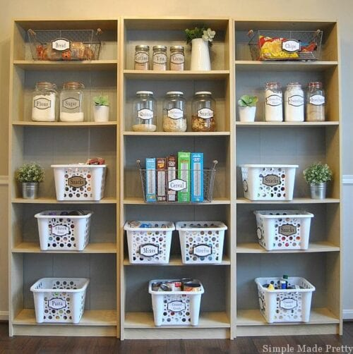 Dollar Tree Containers or Organize Your Pantry