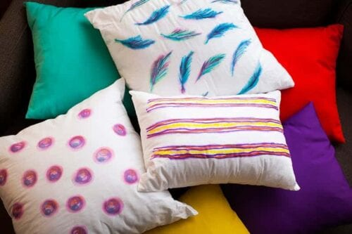 Watercolor Inspired Throw Pillows