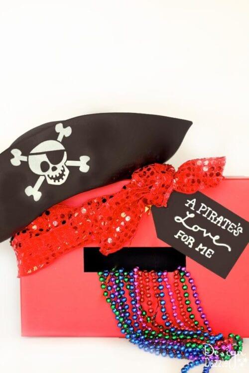 Pirate Valentine Card Holder