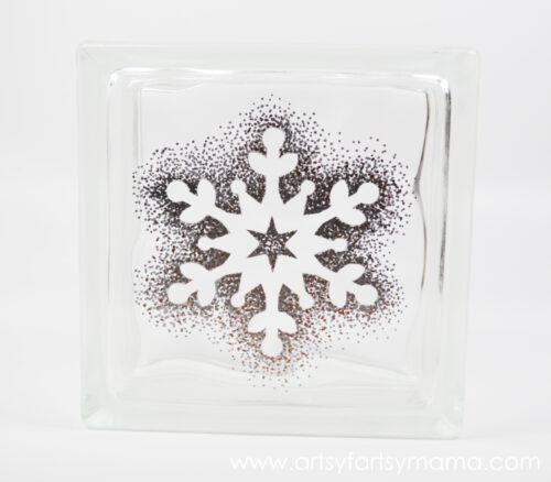 Sharpie Snowflake Block