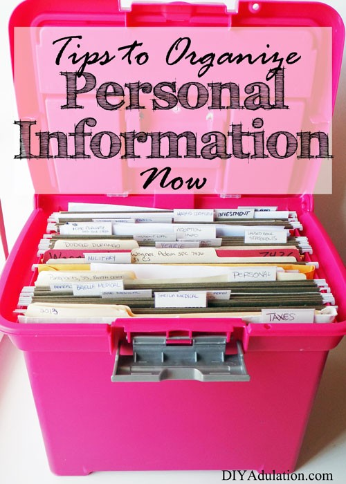 Tips to Organize Personal Information