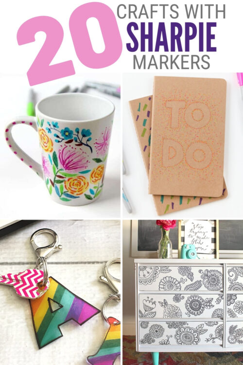 title image for 20 Crafts You Can Make at Home with Sharpie Markers