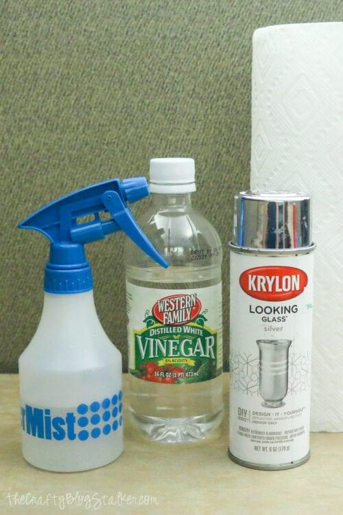 supplies used to diy mercury glass
