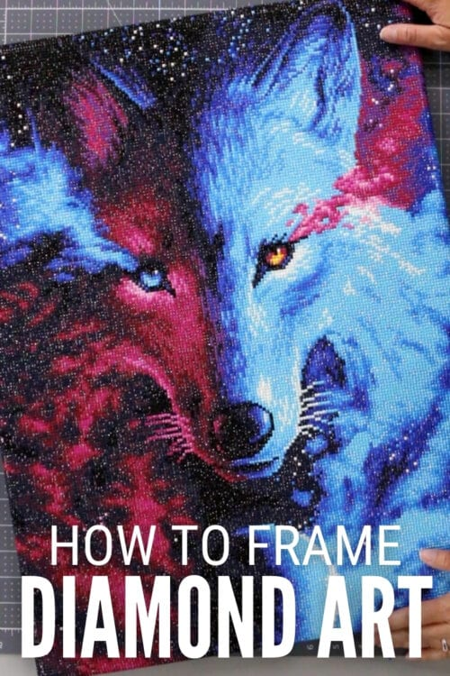 title image for How to Frame Diamond Art Pictures