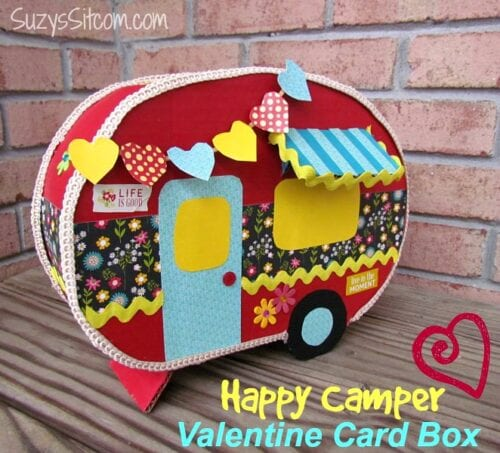 happy camper valentine card box