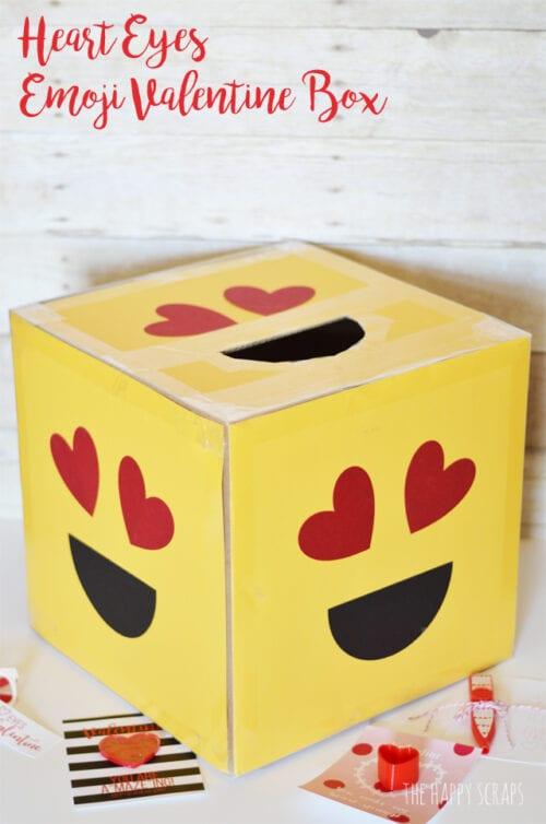 heart eyes emoji valentine box