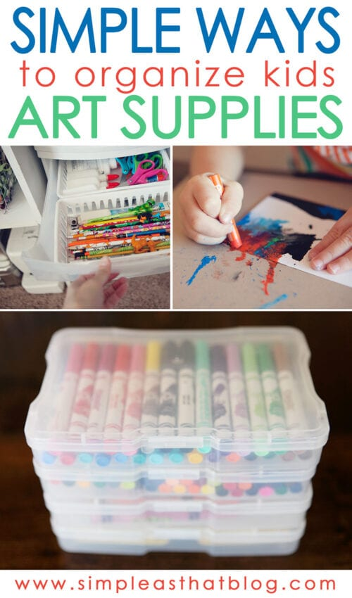 organize kids art supplies