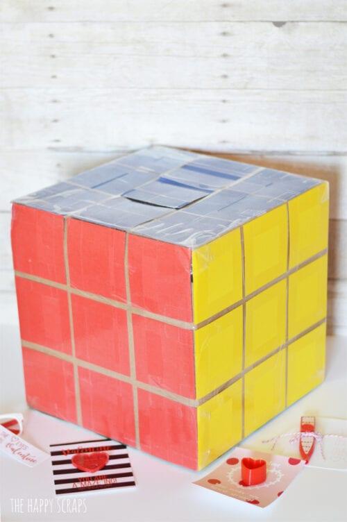 rubiks cube school valentine box