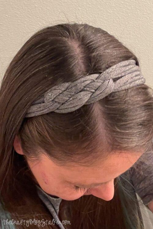 tshirt headband tutorial