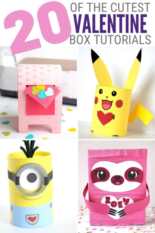 title image for 20 of the Cutest Valentine Card Boxes on Pinterest