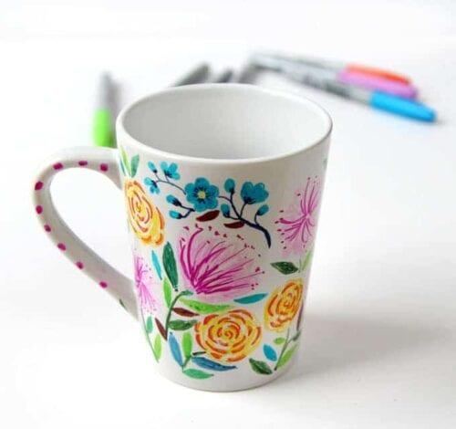 DIY Flower Sharpie Mug