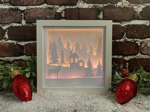 3D Lighted Winter Shadow Box