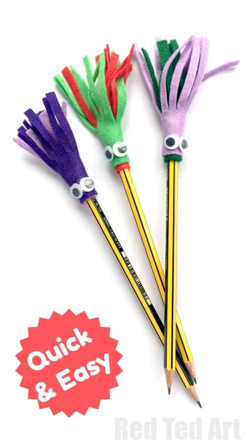 5min Crafts Pencil Toppers