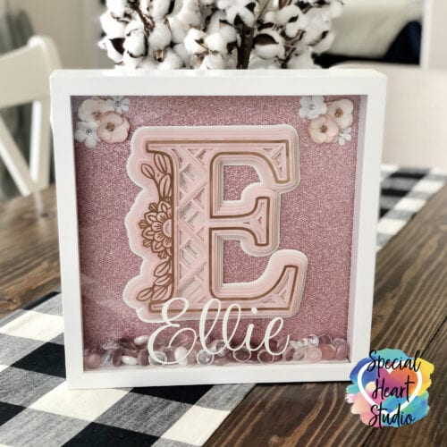 Shadow Box with Layered Mandala Monogram