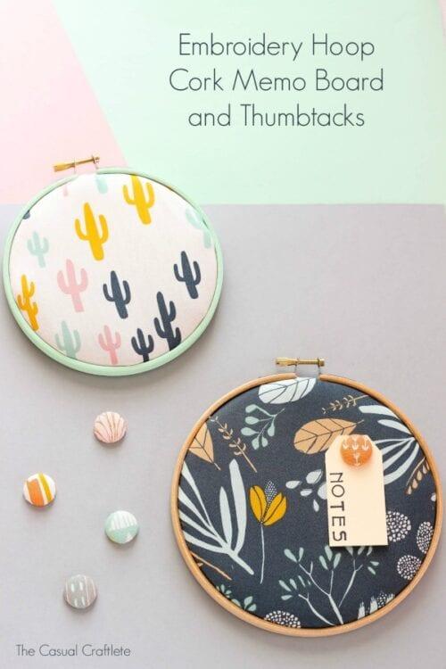 Embroidery Hoop Memo Boards