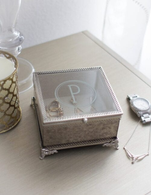 Glass Etched Jewelry Box