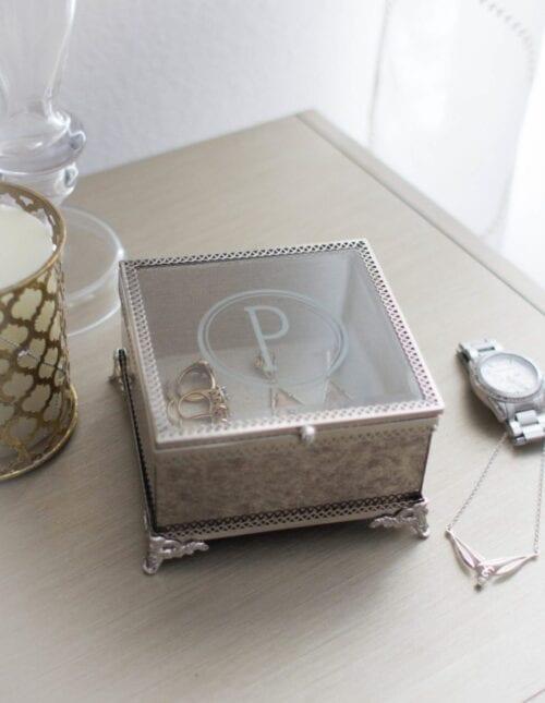 Glass Etched Jewelry Box