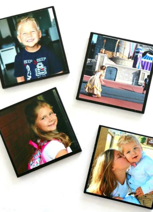 5 Minute DIY Photo Coasters