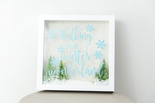 Winter Wonderland Shadow Frame