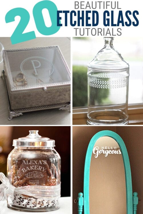 title image for 20 Beautiful Etched Glass Project Ideas Made at Home