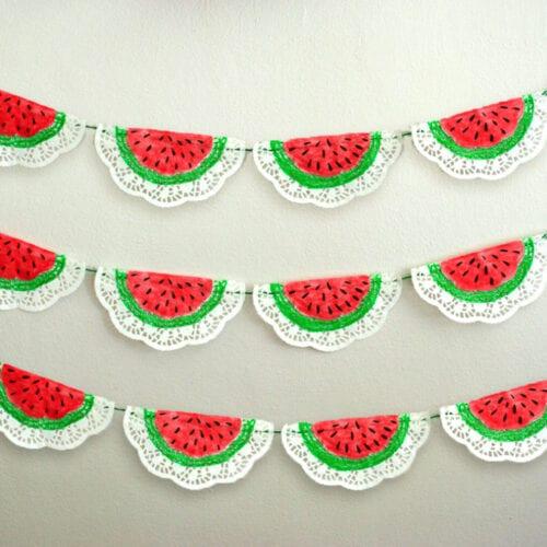 DIY Watermelon Garland