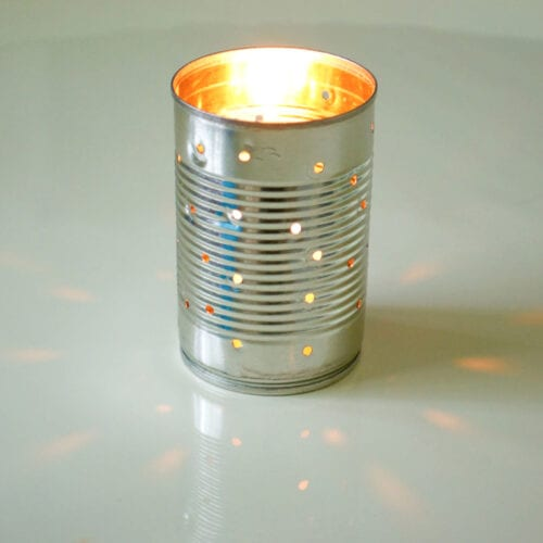 Aluminum Can Luminaries