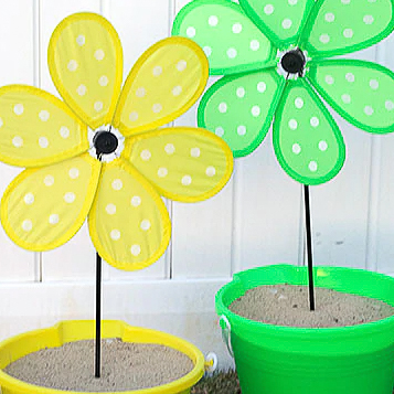 Vibrant Summer Party Pinwheel Decorations