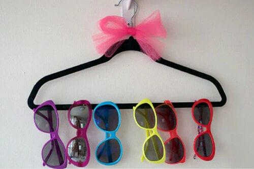 DIY Sunglasses Hanger