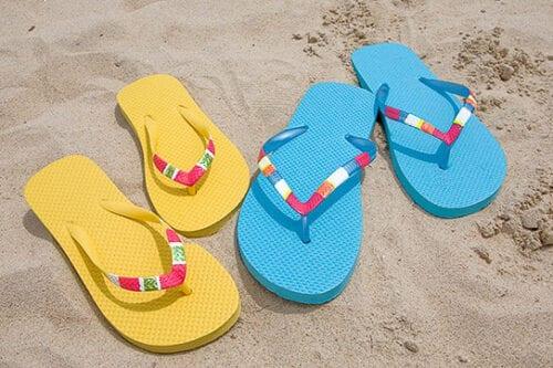 DIY Color Blocked Flip Flops