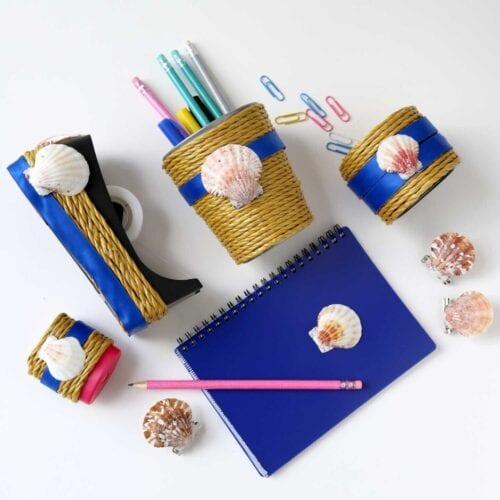 Seashell Desk Accessories